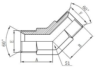 औद्योगिक ट्यूब फिटिंग्ज रेखांकन
