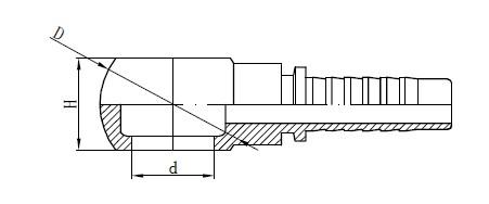मेट्रिक बॅनजो नळी फिटिंग रेखांकन