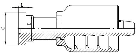 एसएस ट्यूब कनेक्टर रेखांकन