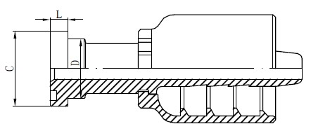 स्टेनलेस स्टील हाइड्रोलिक फिटिंग्ज रेखांकन